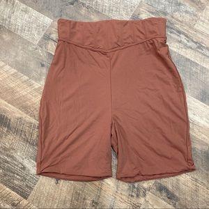Meshki Chaya High Waisted Boned Bike shorts